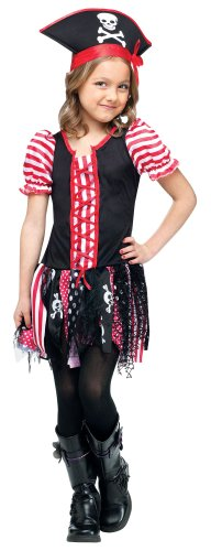 Girl's Tween Pirate Costume Child Stowaway Sweetie Halloween Costume