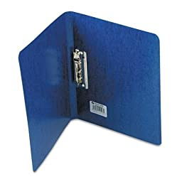 ACCO 42523 PRESSTEX Grip Punchless Binder With Spring-Action Clamp, 5/8quot; Cap, Dark Blue