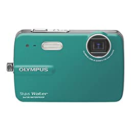 Olympus Stylus 550 10MP Waterproof Digital Camera (Teal) - REFURBISHED