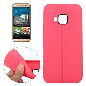 Leather Texture TPU Case for HTC One M9 (Red)