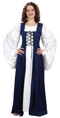 Medieval Renaissance Fair Maiden's Dress (X-Large, Blue) (Fair Maiden Renaissance Costume)