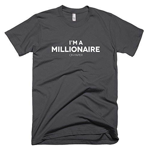 Startup-Drugz-Im-A-Millionaire-On-Paper-Male-T-Shirts-Asphalt