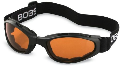 Bobster Eyewear Crossfire Goggles , Distinct Name: Amber Lens, Gender: Mens/Unisex, Primary Color: Black BCR003