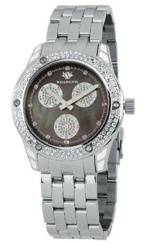 Wellington Mataura WN507-121A - Reloj analógico de cuarzo para mujer, correa de acero inoxidable color plateado