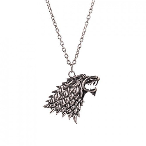 Collana MetaLupo della casata Stark - Game of Thrones - Trono di Spade - Jon Snow HIGH QUALITY