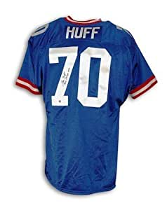 Autographed Sam Huff New York Giants Blue Throwback Jersey Inscribed