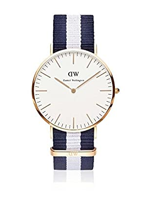 Daniel Wellington Reloj con movimiento cuarzo japonés Man Glasgow blanco/gris 40 mm