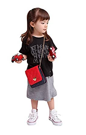 Kids Girls Fashion PU Leather Lovely Messenger Bag Purse Single Shoulder Bag