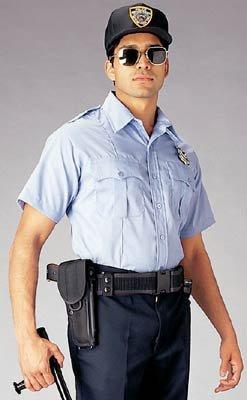 Light Blue Offical Law Enforcement Uniform Short Sleeve Shirt 30025 Size Medium