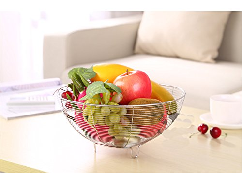 Butonger Creative Stainless Steel Pantry Works Round Fruit Bowl (Pantry Works Fruit Basket compare prices)