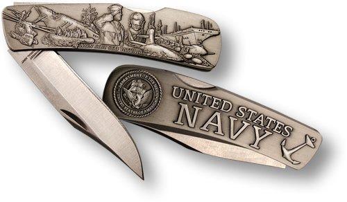 Navy Lockback Knife - Small Nickel Antique