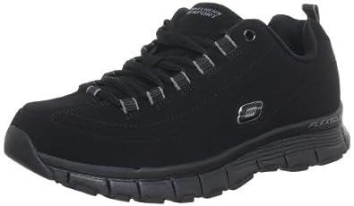 Skechers Women's High Demand Flex Fit Fashion Sneaker,Black,5.5 M US
