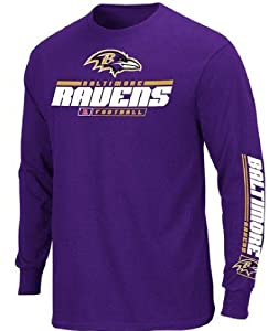 Baltimore Ravens Mens Long Sleeve Majestic Tee Shirt by VF