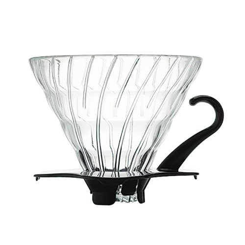 Hario Coffee Dripper V60 Size 01 Black Glass (japan import)
