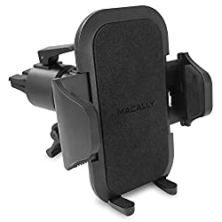 Macally Fully Adjustable Car/Truck Air Vent Holder, Mount, Cradle, Grip for iPhone, iPod, Android, Smartphones and Most GPS - Black