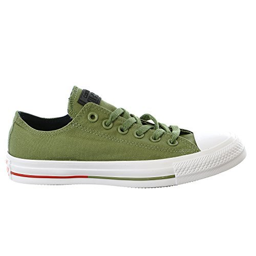 Chuck Taylor All Star Shield Canvas Low Top Sneaker Fatigue Green (9 Mens/11 Womens)