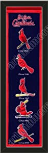 Heritage Banner Of St. Louis Cardinals-Framed Awesome & Beautiful-Must For A... by Art and More, Davenport, IA