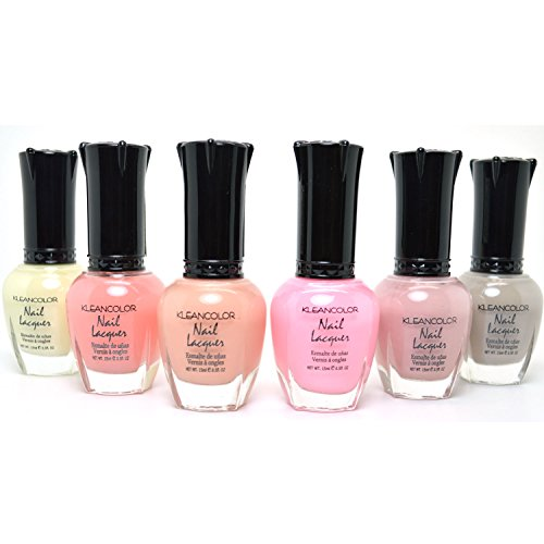 6-FULL-KLEANCOLOR-SHEER-PASTEL-NAIL-SOFT-POLISH-SET-COLLECTION-LACQUER-SHPASTEL-FREE-EARRING