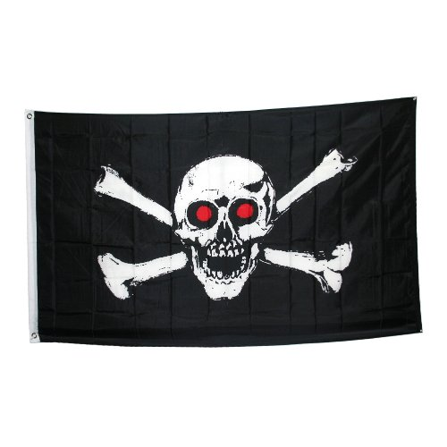 Jolly Roger With Red Eyes Pirate Flag - 1