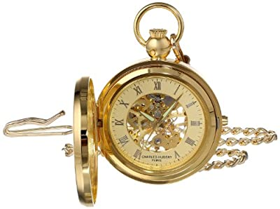 Charles Hubert Pocket Watch 3848 Gold Plated Picture Frame Half Hunter