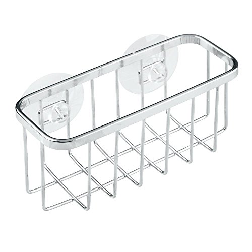 InterDesign Gia Kitchen Sink Suction Holder for Sponges, Scrubbers, Soap - Stainless Steel (Dish Scrubber Steel compare prices)