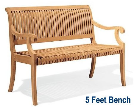 New Grade A Teak Wood Luxurious Outdoor Garden 5 Feet Bench – -Giva Collection