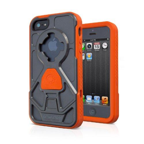 Special Sale Rokform RokShield V.3 Bumper Apple iPhone 5 / 5S Case with Remote Mounting System (Gun Metal Bumper / Orange Body)