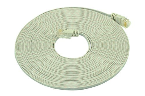 Optimus Electric 50 Feet Cat6 Ultraflat Cable With Wave Jacket - Gray