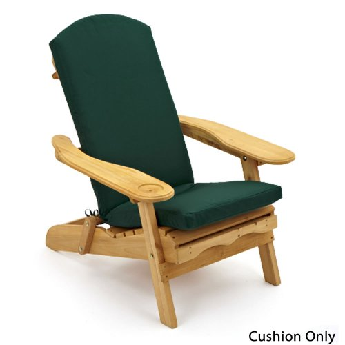 Garden /Patio Luxury Seat, Back & Head Cushion For Adirondack Chair Lounger available in 5 colours Dark Green