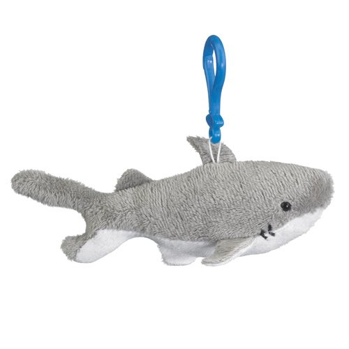 Great White Stuffed Shark Clip Toy Keychain By Wild Life Artist front-669116