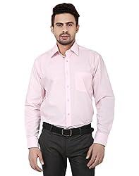 Reborn Designer Pink Cotton Shirt for Men -Size-40