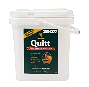 Farnam Quitt Wood Chewing Supplement for Horses, 20-Pound