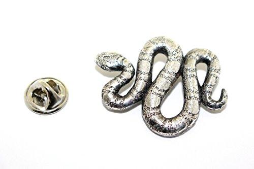 Snake ~ Antiqued Pewter ~ Lapel Pin ~ Sarah's Treats & Treasures ~ STT-606