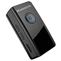 Musesonic V4.2 Aux Bluetooth Stereo Audio Receiver Adapter Connector with Mic for Wireless Music & Hands Free Calling. Six Months India Warranty