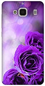 The Racoon Lean printed designer hard back mobile phone case cover for Xiaomi Redmi 2 Prime. (dewy petal)
