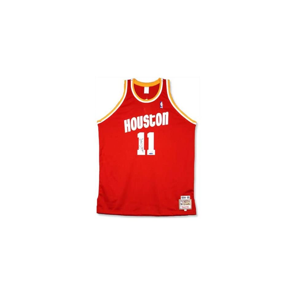 low priced 29135 2149c Yao Ming Signed Rockets M&N 94 95 Red Jersey UDA on PopScreen