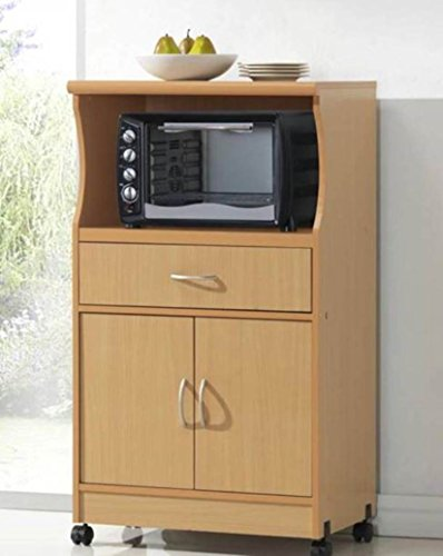 hodedah microwave cart beech home garden kitchen dining tall microwave cart contemporary microwave ovens by