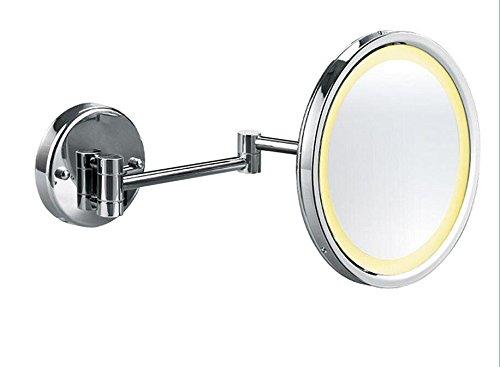 Montato a parete bagno specchio delle luci LED pieghevole Specchio bagno