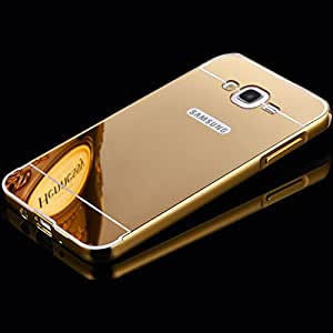 Luxury Mirror back cover for Samsung Galaxy On7 Golden