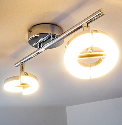 LED Lampadario Plafoniera Circolare con Faretti LED Orientabili
