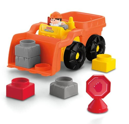 41BWV3dvROL Cheap Buy  Fisher Price Little People Builders Build n Drive Front Loader