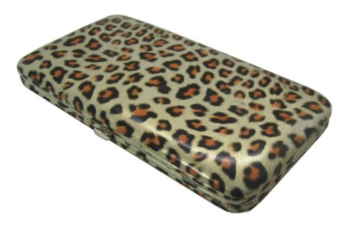 CHEETAH PRINT FLAT OPERA WALLET CLUTCH PURSE BY DESIGNSK