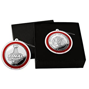 Chicago Blackhawks 2013 Stanley Cup Champions Silver Coin Ornament