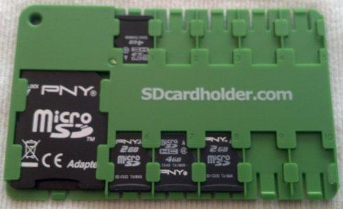 Micro SD Card Organiser - GREEN