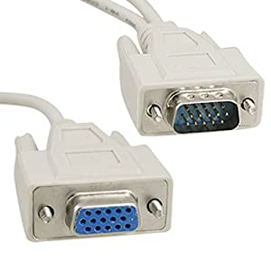 HD15 1 Male VGA to 2 Female VGA Y Splitter Cable Adapter