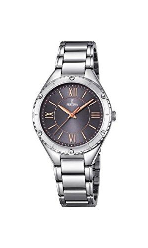 Damas-reloj analógico de cuarzo de acero inoxidable Festina F16921/2