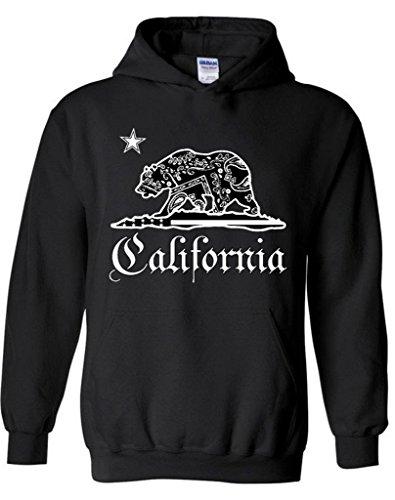 Raxo California Bear Bandana Pattern Hoodie Cali Republic West Coast CA Shirt M Black (Ca Hoodie compare prices)