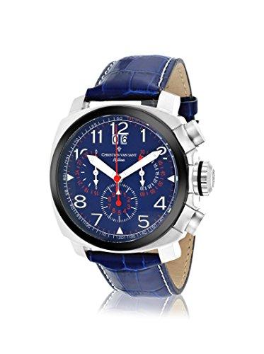 Christian Van Sant Men's CV3AU3 Grand Python Blue Leather Strap Watch