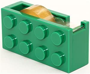 green building block adhesive tape dispenser cutter