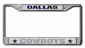 NFL Dallas Cowboys Chrome Licensed Plate Frame